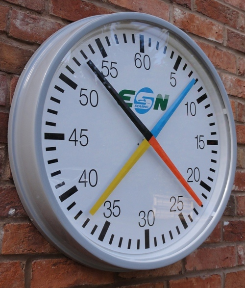 4 Handed Pace Training Clock  (Round / Cased)